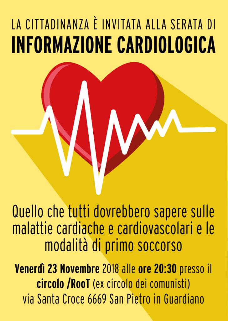 LA CITTADINANZA È INVITATA ALLA SERATA DI INFORMAZIONE CARDIOLOGICA Quello che tutti dovrebbero sapere sulle malattie cardiache e cardiovascolari e le modalità di primo soccorso